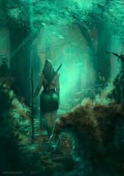 Female Druid by leomeza