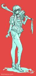 CharacterSwordGirl by leomeza