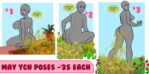 May Flowers New Farting YCH Poses by SwampyArt