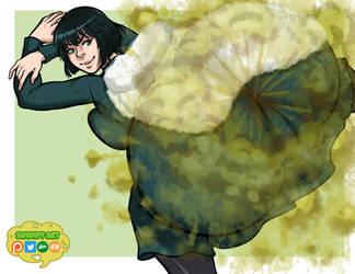 Fubuki (Non-nude and Non-giantess version) by SwampyArt