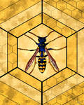 Stained Glass Wasp