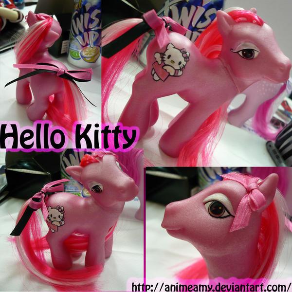 Custom Hello Kitty Pony by AnimeAmy