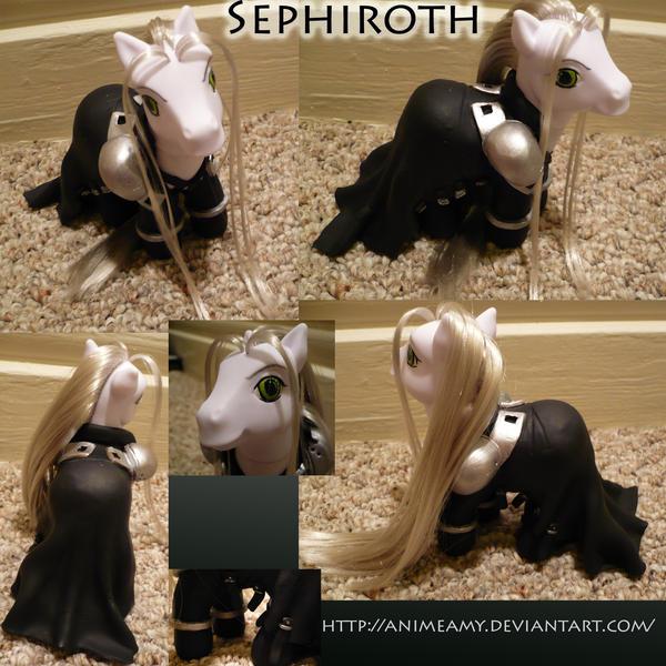 Sephiroth Pony by AnimeAmy