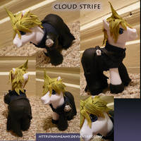 Cloud Strife Pony by AnimeAmy