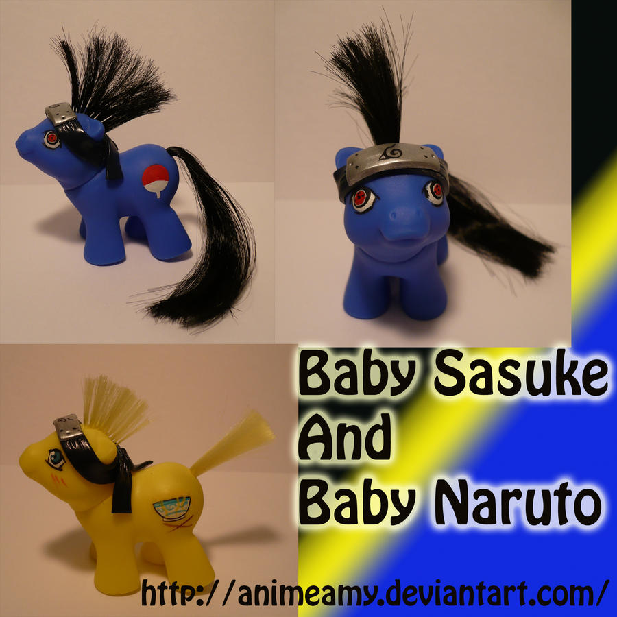 Baby Naruto and Sasuke by AnimeAmy