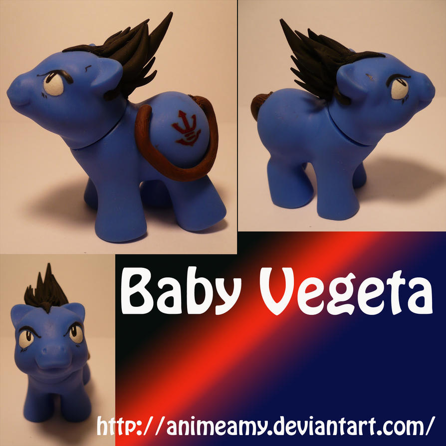 Baby Vegeta Pony by AnimeAmy