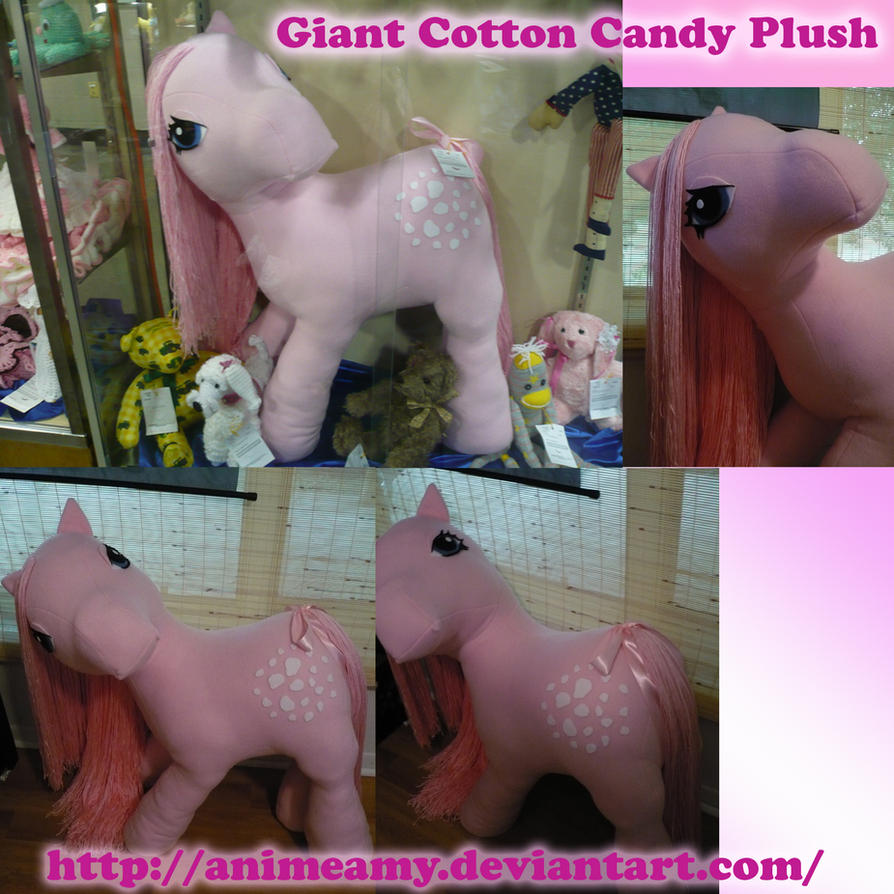 Giant Cotton Candy Pony Plush by AnimeAmy