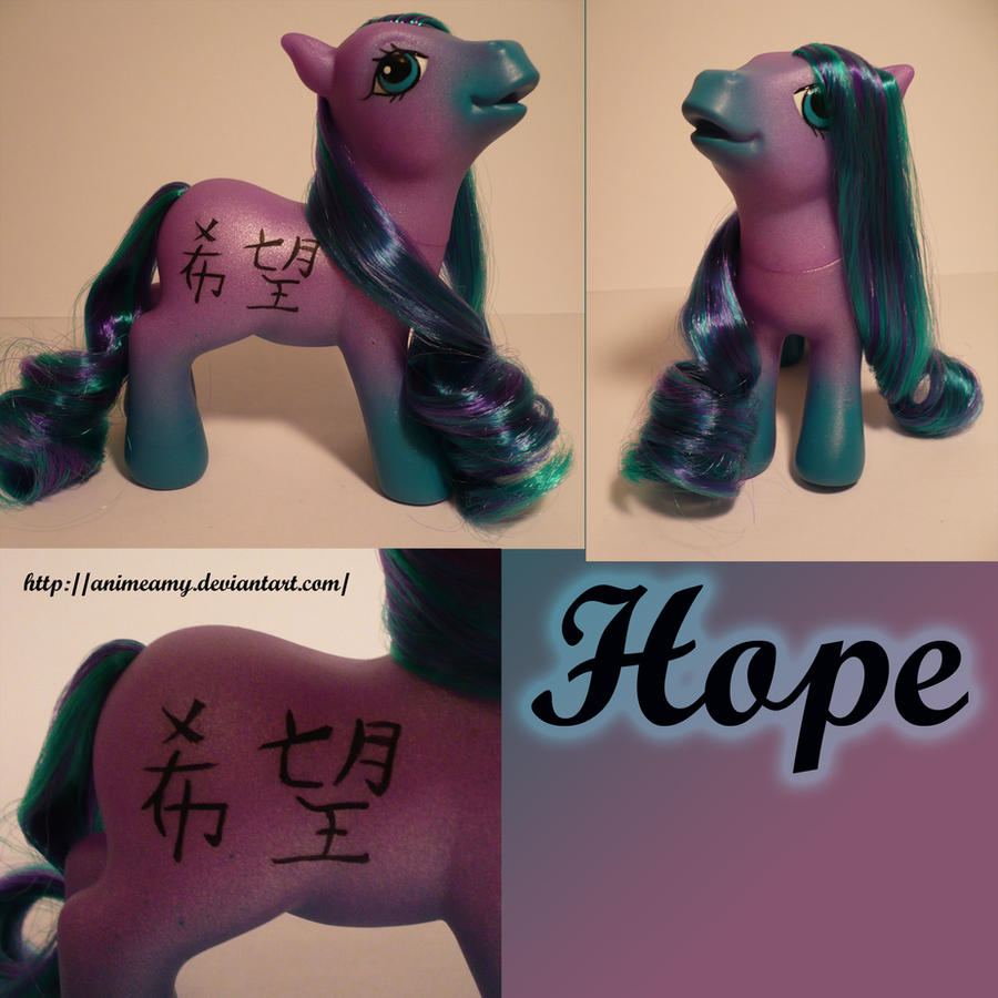 Kanji Pony Hope by AnimeAmy