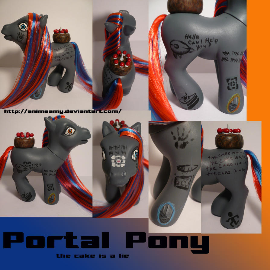 Portal Pony by AnimeAmy