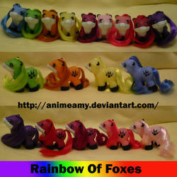 Rainbow of Foxes