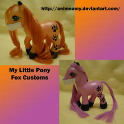 2 Fox Custom My Little Ponies