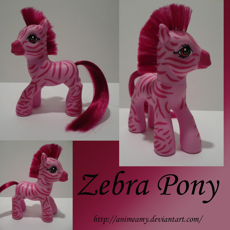 Zebra My Little Pony by AnimeAmy
