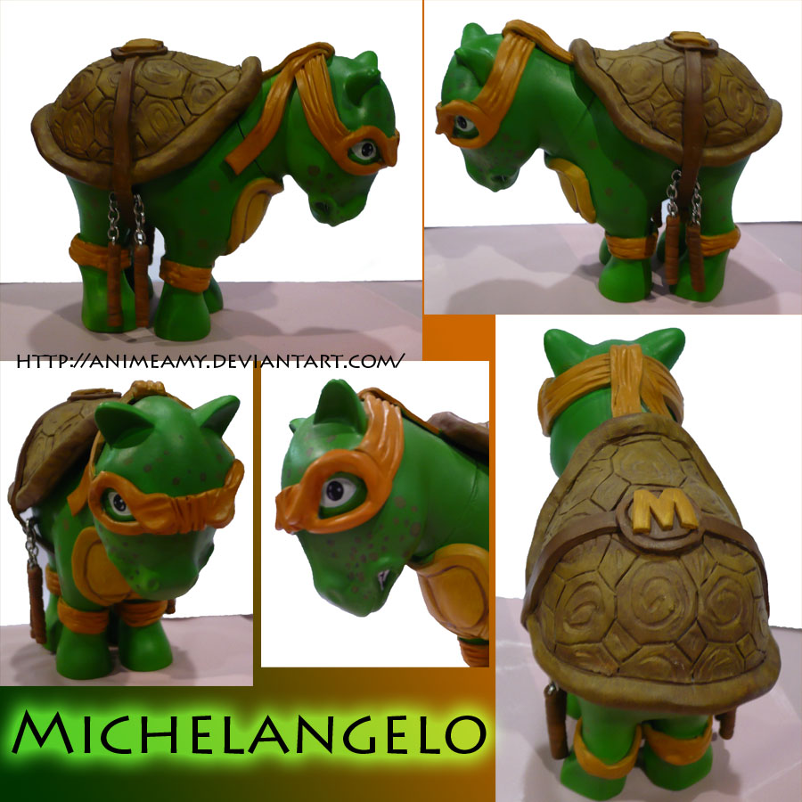Michelangelo Pony by AnimeAmy