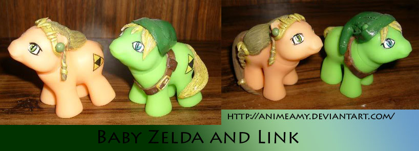 Baby Zelda And Link by AnimeAmy