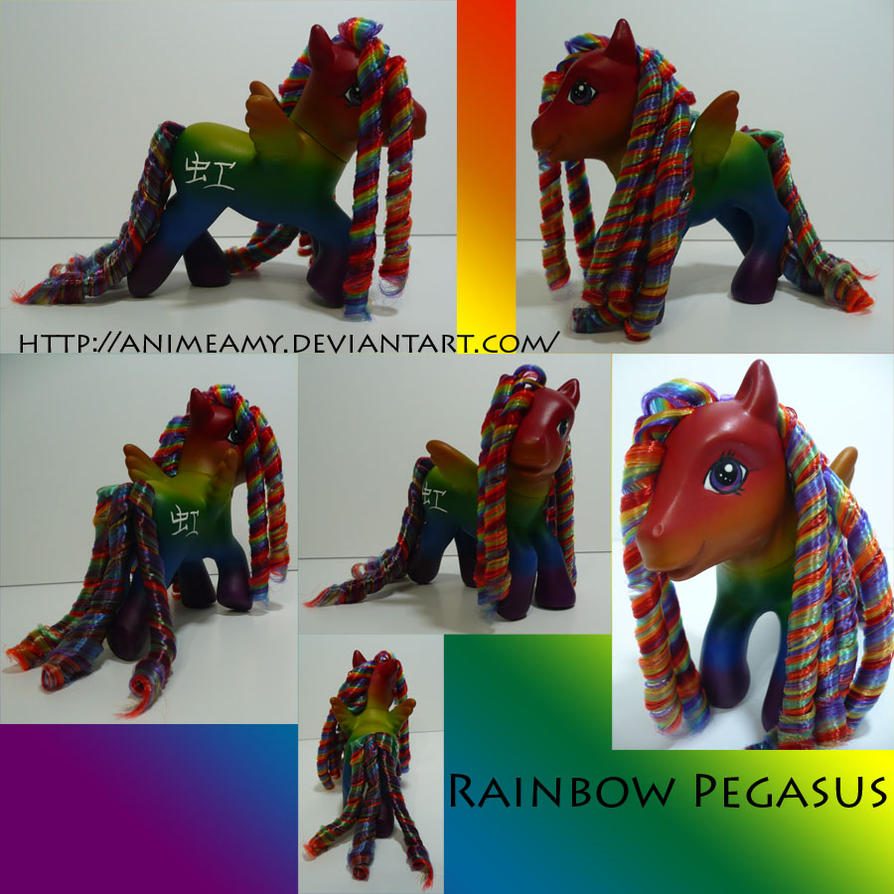 Rainbow Pegasus by AnimeAmy
