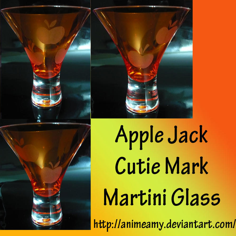 Apple Jack Martini Glass by AnimeAmy