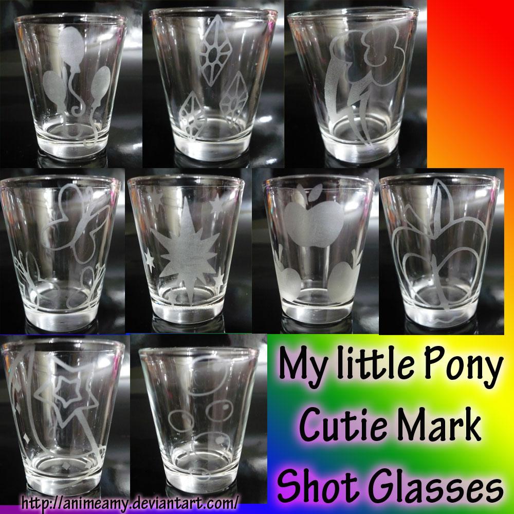 MLP Cutie Mark Shot Glass by AnimeAmy