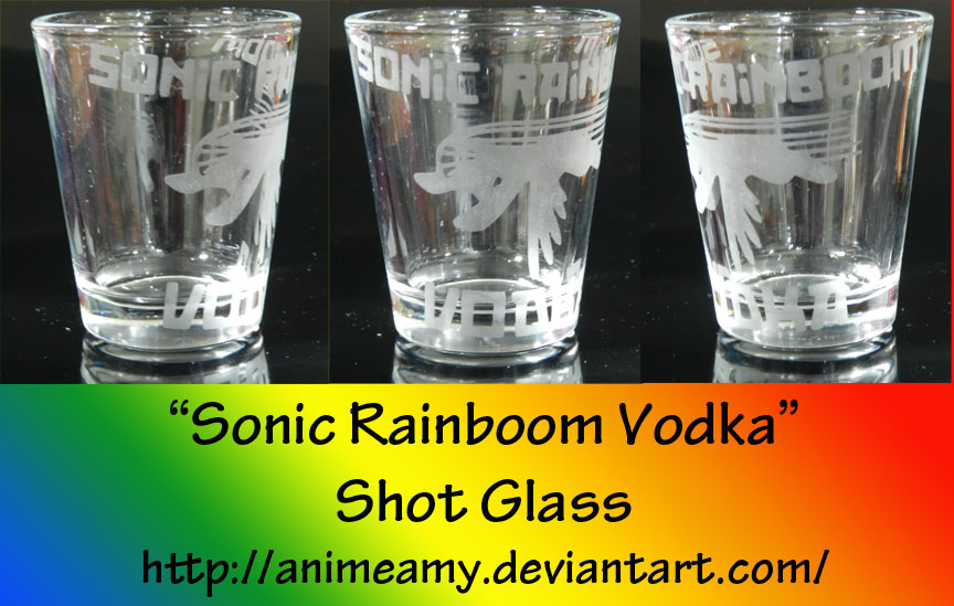 """Sonic Rainboom Vodka"" by AnimeAmy"