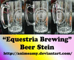'Equestria Brewing' Beer Stein by AnimeAmy