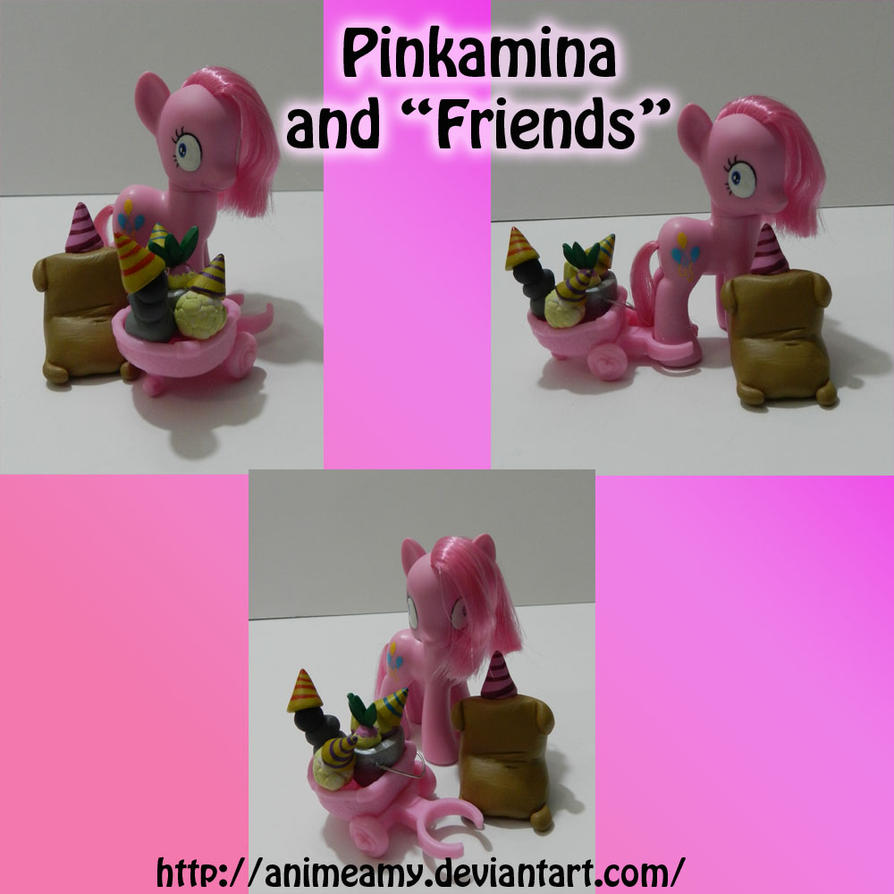 "Pinkamina and ""Friends"" by AnimeAmy"