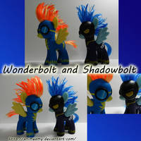 Wonderbolt and Shadowbolt by AnimeAmy