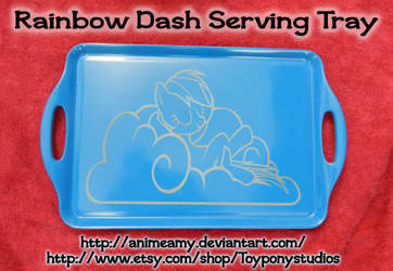 Rainbow Dash Serving Tray by AnimeAmy