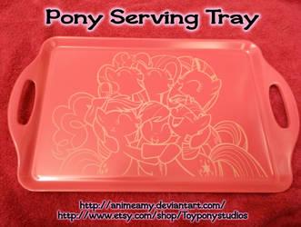 Pony Hugs Serving Tray by AnimeAmy