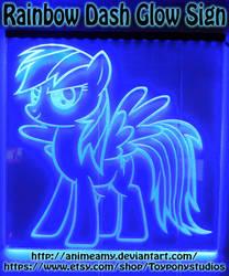 Rainbow Dash Glow Sign