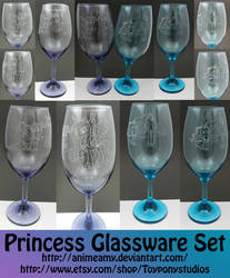 My Little Pony Princess Glass Set (For Auction)