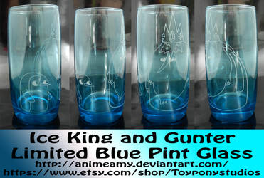 Ice King and Gunter Limited Blue Pint Glass
