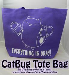 CatBug Tote Bag by AnimeAmy