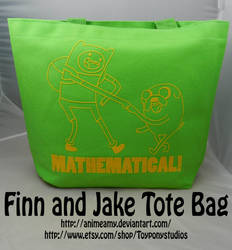 Finn And Jake Tote Bag by AnimeAmy