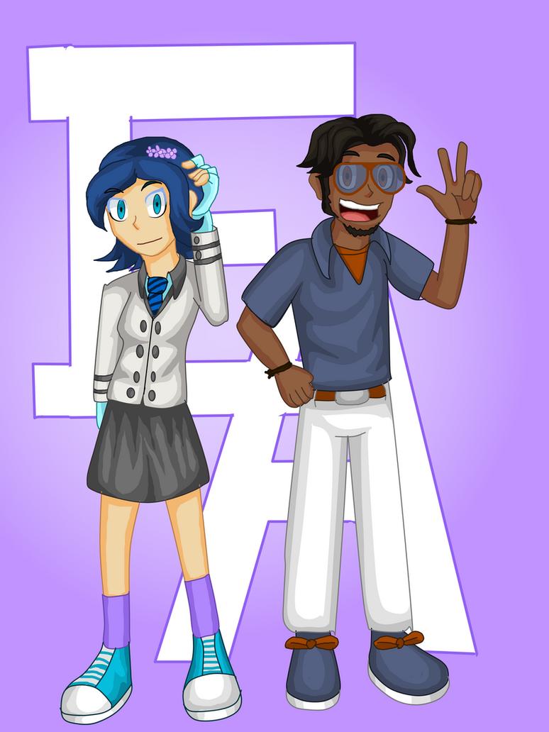 Shouko and Esteban by ObedART2015
