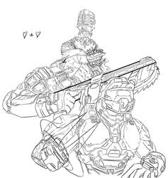 Gears of Halo Space W.I.P by knightsfaith