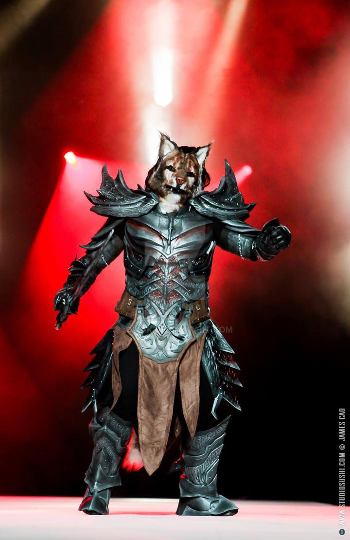 Cosplay - Khajiit in deadric armor by Owak