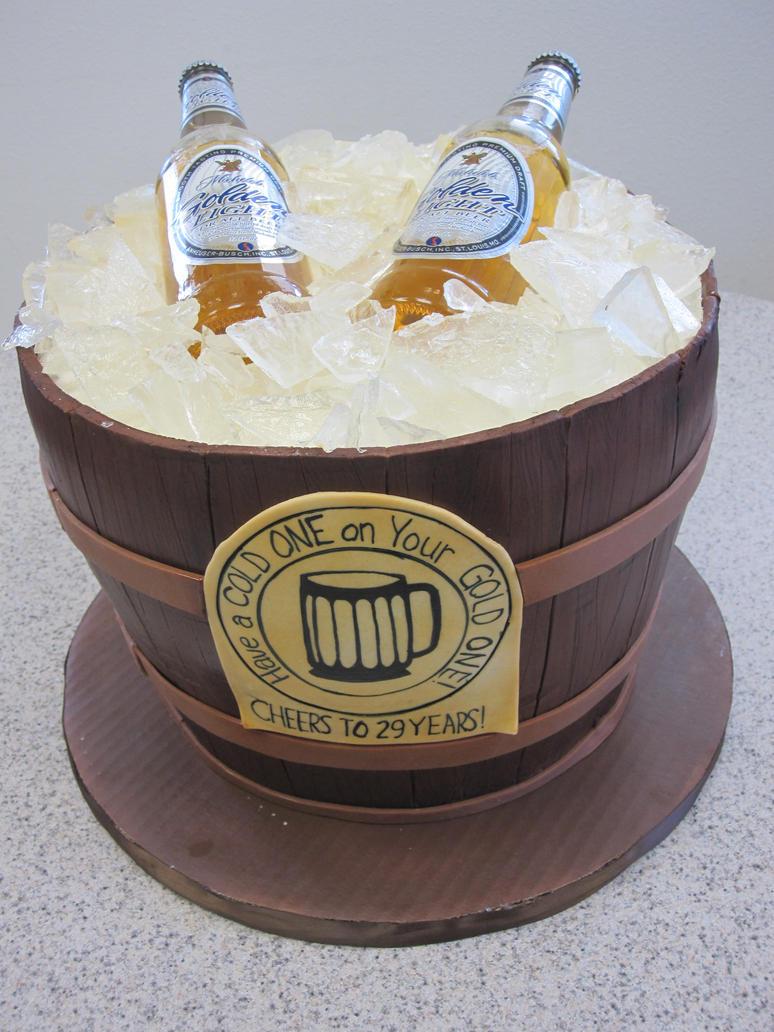 Happy birthday craft beer cake - photo#4