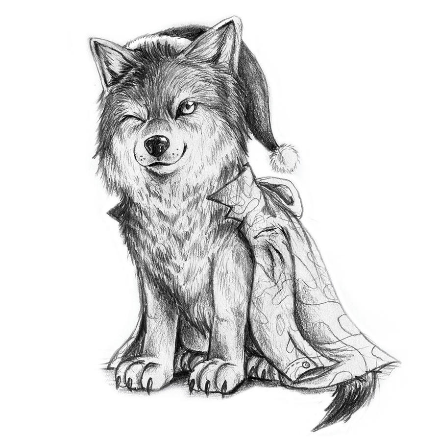 santa wolf cub by binusianwolf on deviantart