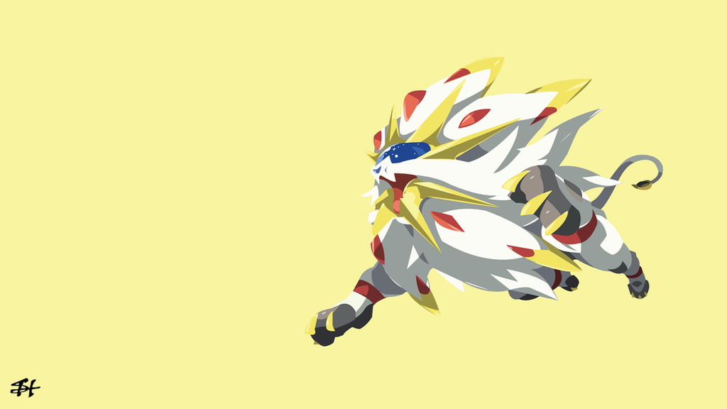Solgaleo pokemon minimalist wallpaper by slezzy7 on for Deviantart minimal wallpaper