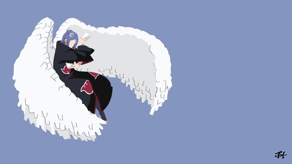 Sasuke Minimalista Fondo: Konan God Mode (Naruto) Minimalist Wallpaper By Slezzy7 On