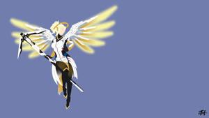 Mercy (Overwatch) Minimalist Wallpaper