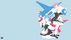 Re Zero x Pokemon Minimalist Wallpaper by slezzy7