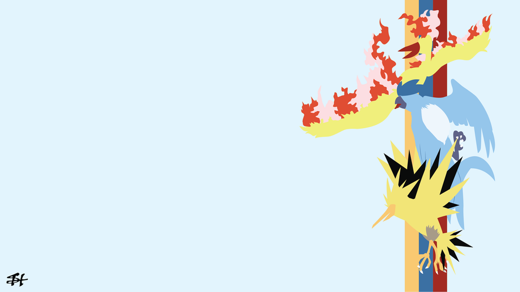 Legendary Birds (Pokemon) Minimalist Wallpaper by slezzy7 ...