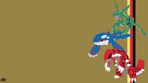 Weather Trio (Pokemon) Minimalist Wallpaper by slezzy7