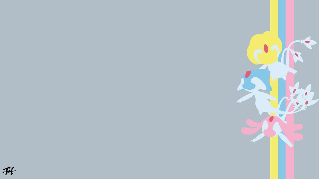 Lake Guardians Pokemon Minimalist Wallpaper By Slezzy7