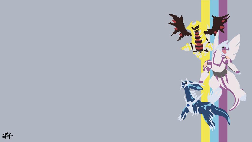 creation trio pokemon minimalist wallpaper by slezzy7 on