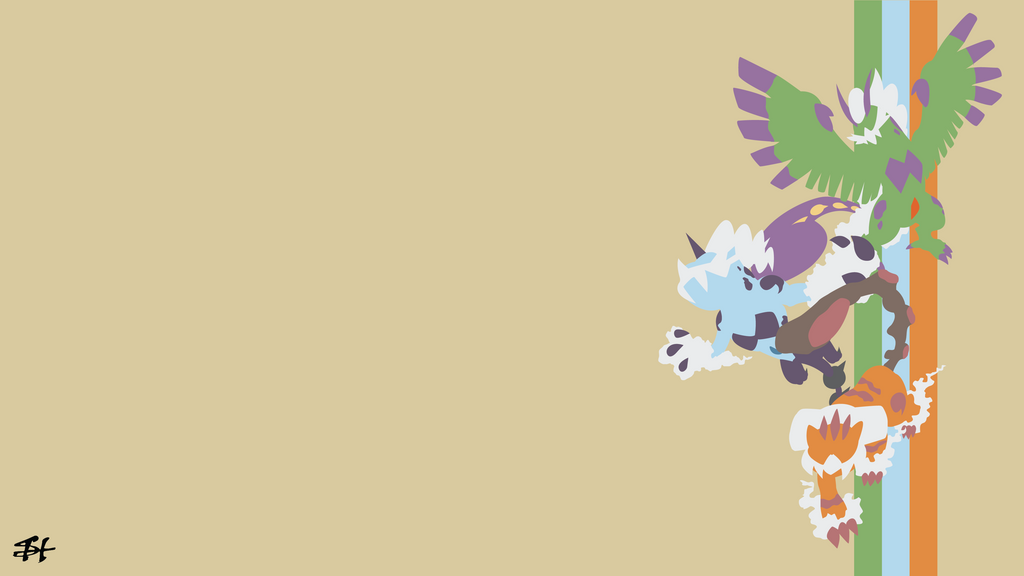 Forces Of Nature Pokemon Minimalist Wallpaper By Slezzy7