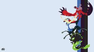 Mortality Duo and Zygarde (Pokemon) Minimalist by slezzy7