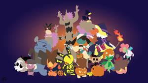 Halloween Pokemon Minimalist Wallpaper by slezzy7