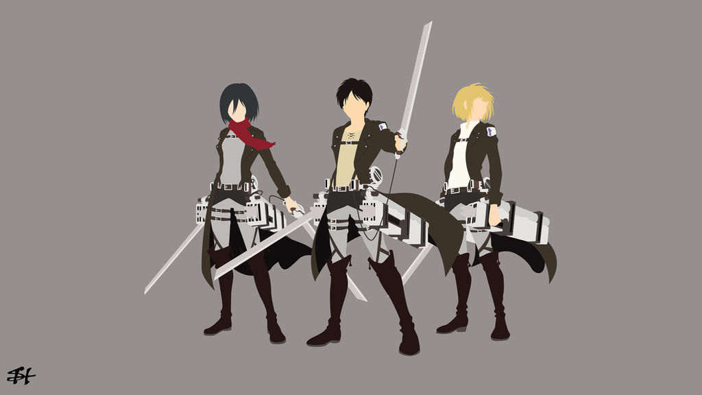 Trio Survey Corps Aot Minimalist Wallpaper By Slezzy7 On Deviantart