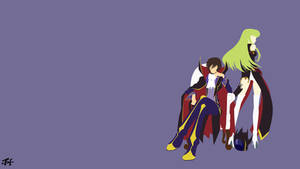 Lelouch and C.C. (Code Geass) Minimalist Wallpaper
